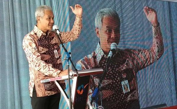 Gubernur Jawa Tengah Ganjar Pranowo. (ANTARA/Wisnu Adhi)