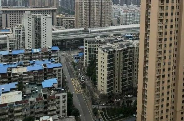 Suasana Kota di Provinsi Hubei, China tampak lenggang akibat dampak wabah virus Corona di negara itu. (Foto: ANTARA/HO)