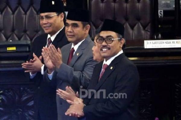 Wakil Ketua MPR Jazilul Fawaid bersama Ahmad Muzani dan Ahmad Basarah. (Foto: dokumen JPNN/Ricardo)