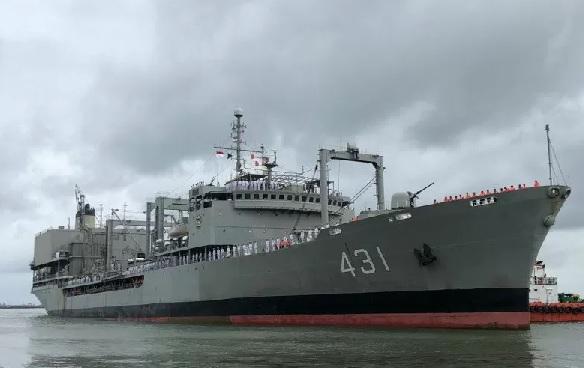 Kapal Kharg milik Republik Islam Iran mengunjungi Indonesia pada Selasa (25/2/2020), dalam rangka memperingati 70 tahun hubungan diplomatik kedua negara. (ANTARA/Dokumentasi Kedubes Iran)