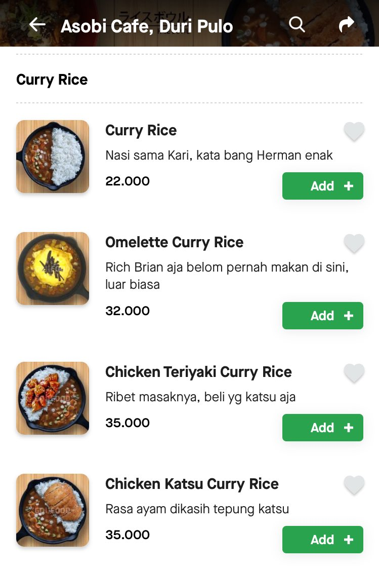 Viral Asobi Cafe, Deskripsi Menunya di GoFood Buat Netter Bahagia