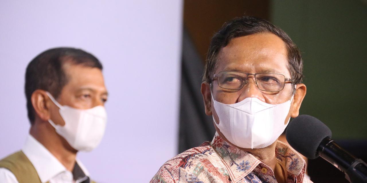 Menteri Koordinator Bidang Politik Hukum dan Keamanan Mahfud MD, (Foto: BNPB)