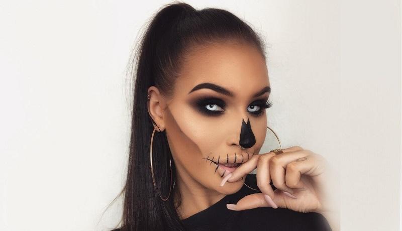 Ilustrasi : Make Up Skull ( Sumber : marie claire.jpg )