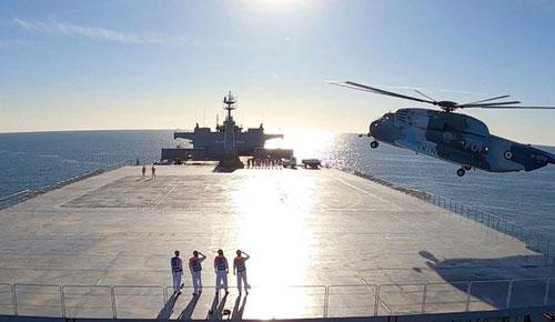 Kapal perang Makran milik Iran Foto: military