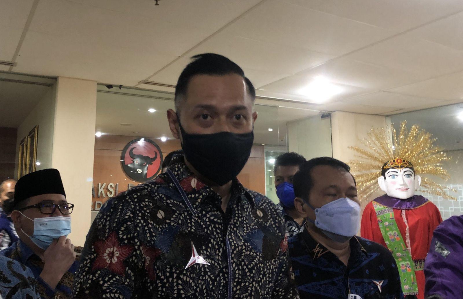Ketua Umum Demokrat AHY Kunjungi DPRD Jakarta. Foto : Mia Kamila/GenPI.co