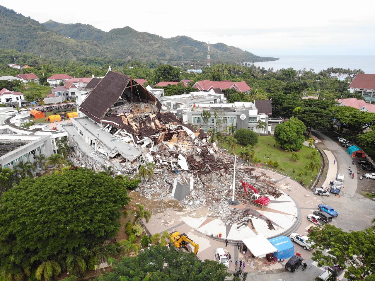 Gempa Bumi Sulawesi Barat. Foto: BNPB
