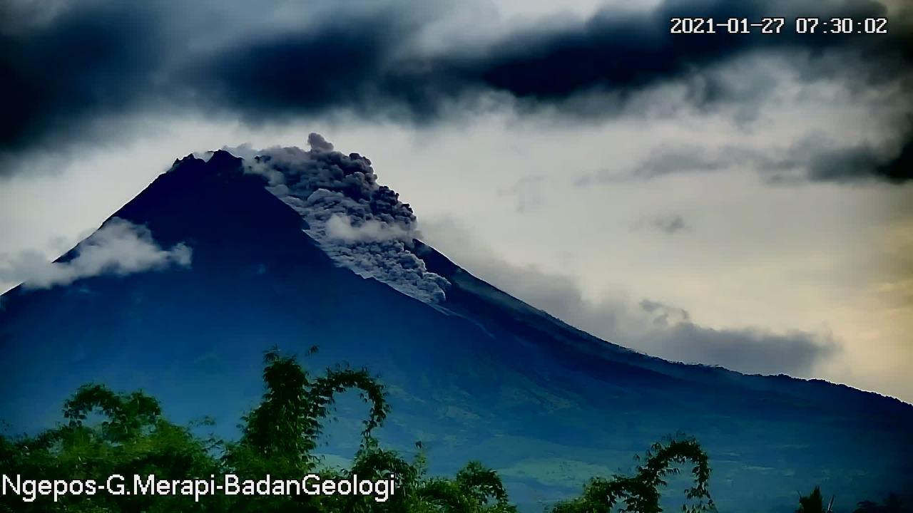 Erupsi Merapi. Foto: BPPTKG