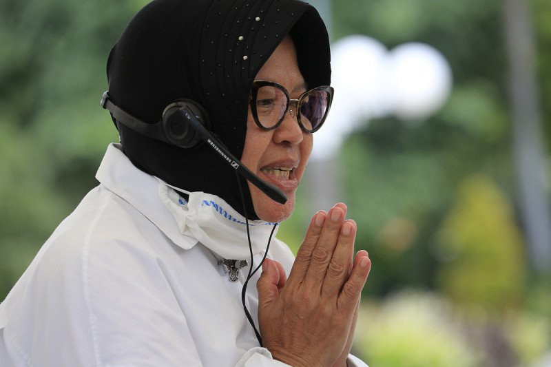 Menteri Sosial Tri Rismaharini. Foto: Antara/Humas Pemkot Surabaya