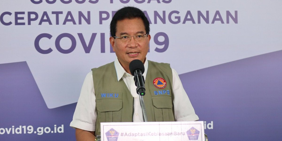 Juru Bicara Satgas Penanganan Covid-19 Prof Wiku Adisasmito. Foto: BNPB
