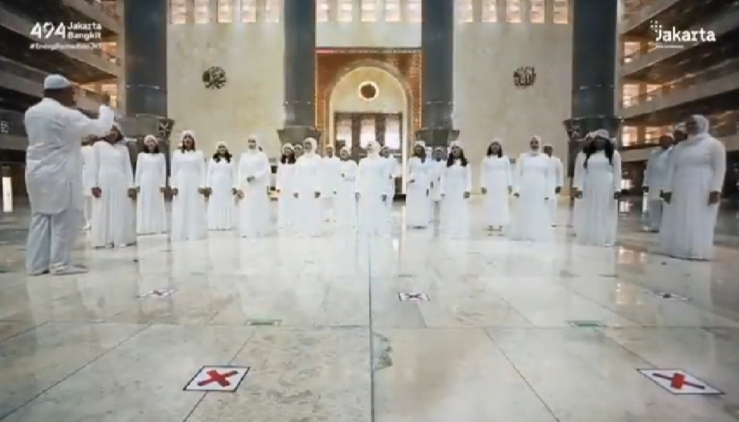 Kaget! Paduan Suara di Dalam Masjid Istiqlal, Habib Assegaf Beber - Jakarta Youth Choir paduan suara di dalam masjid Istiqlal (Foto: tangkapan layar video Jakarta Youth Choir bernyanyi di masjid istiqlal/YouTube)