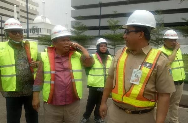 Komisi B DPRD DKI jakarta melakukan tinjauan langsung kawasan TIM yang direvitalisasi oleh PT Jakarta Propertindo, Jakarta Pusat, Selasa (26/11/2019). (Foto: ANTARA/ Livia Kristianti)