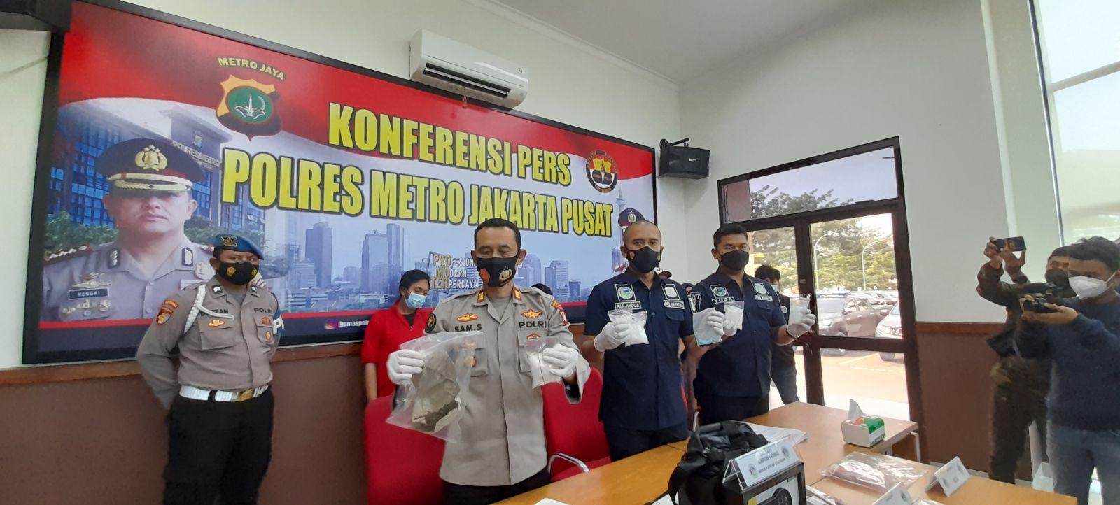 Polres Jakpus Bekuk Pengedar 1,6 Kg Sabu, Sindikat Terancam Mati
