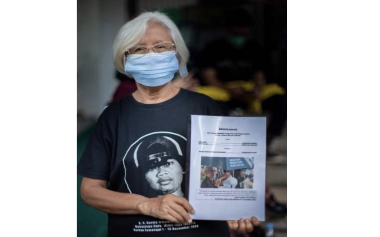Keluarga Korban Tragedi Semanggi I dan II Ajukan Kasasi ke MA. Foto: koalisi keadilan Semanggi I dan II