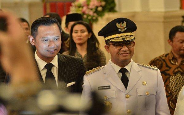 Gubernur DKI Jakarta Anies Baswedan dengan Ketua Umum Partai Demokrat Agus Harimurti Yudhoyono (AHY). Foto: JPNN.com