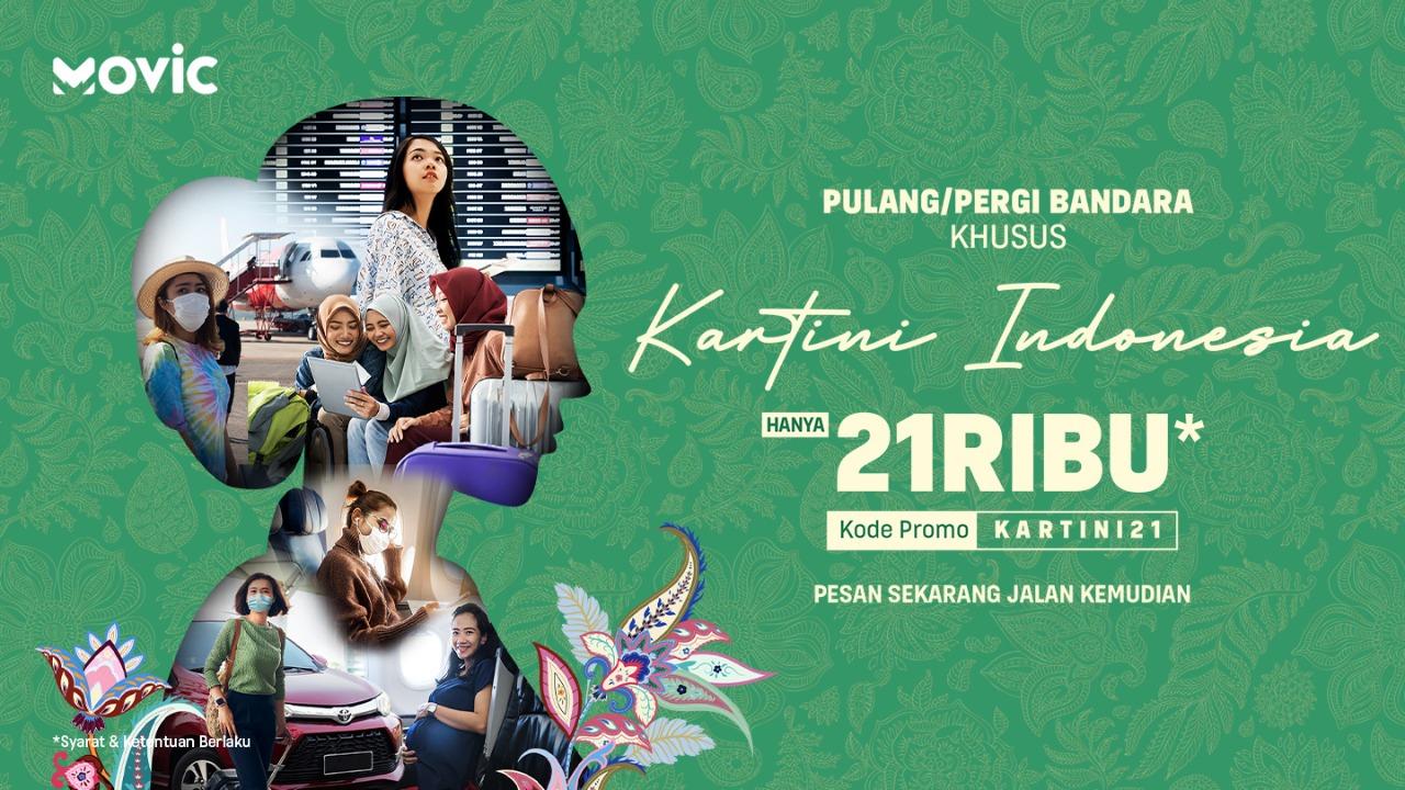 Hari Kartini, Perjalanan ke Bandara hanya Rp 21ribu di Movic