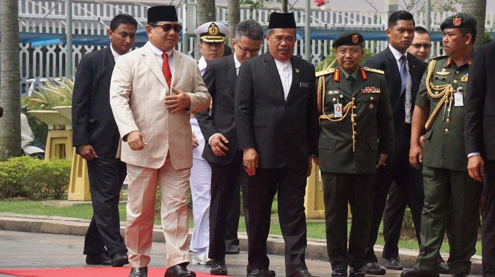 Menhan Prabowo Subianto Saat Kunjungan ke Malaysia (Foto: Instagram)