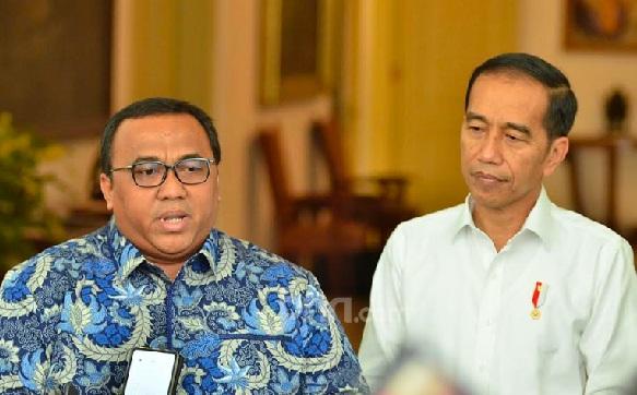 Presiden KSPSI Andi Gani usai pertemuan dengan Presiden Jokowi di Istana Kepresidenan Bogor, Senin (30/9). (Foto M Fathra N.I/JPNN)