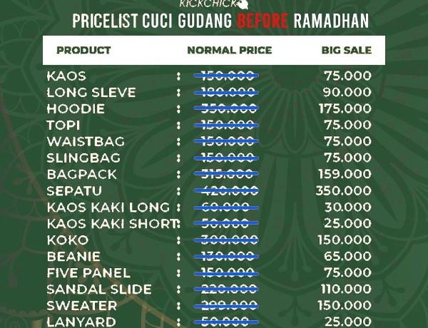 KICKCHICK Clothing Cuci Gudang, Tawarkan Diskon Hingga 50 %