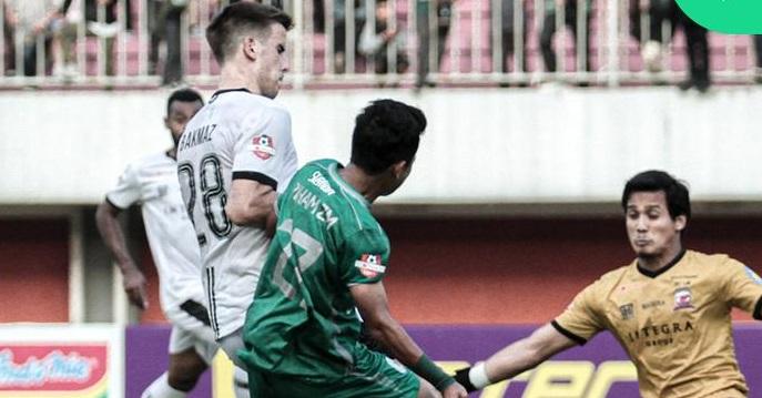 Laga PSS Sleman vs Madura United pada lanjutan Liga 1 2019 berjalan dengan sangat sengit. Foto: Twitter PSS Sleman