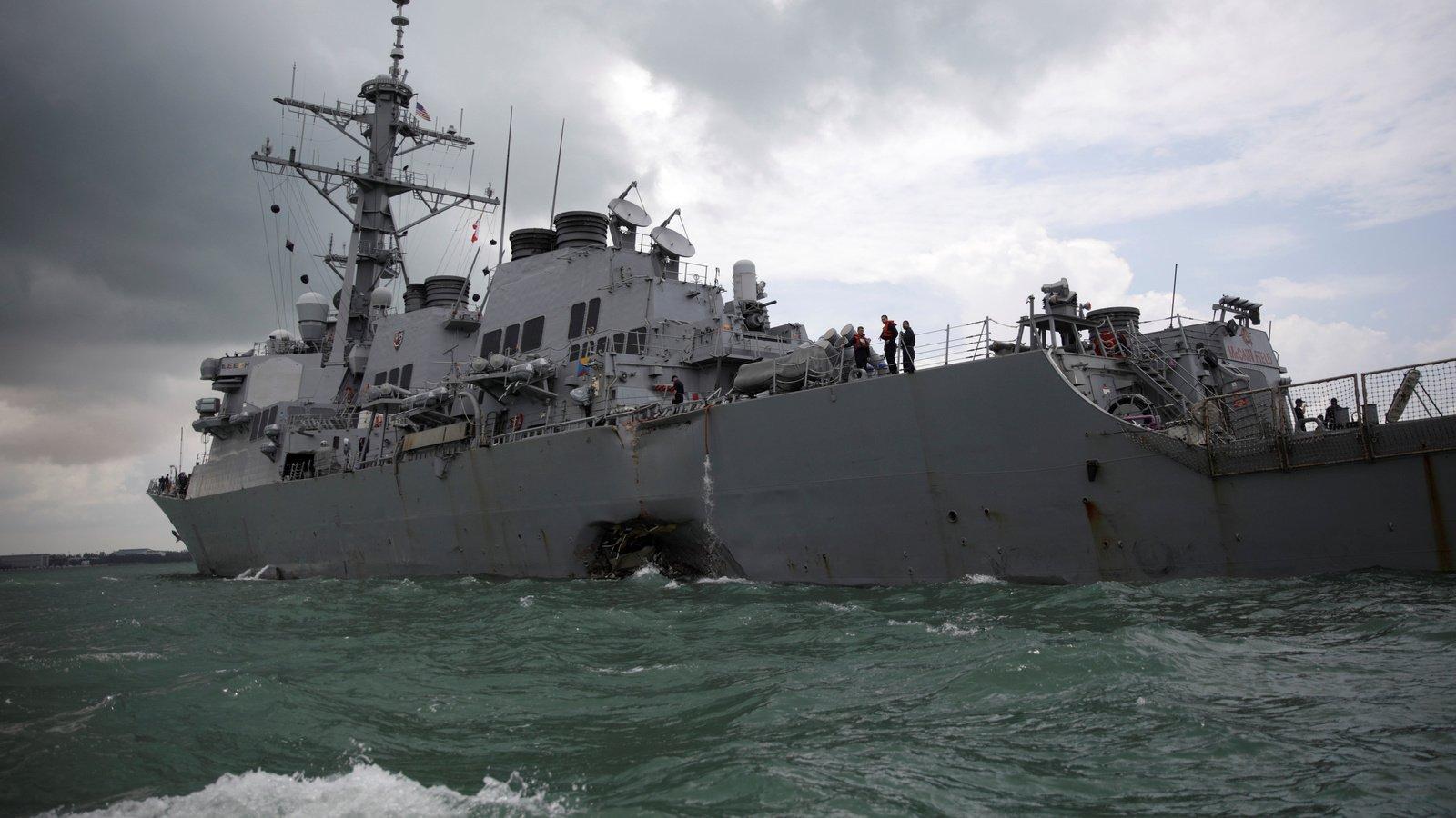 USS John S. McCain. Ahmad Masood/Reuters