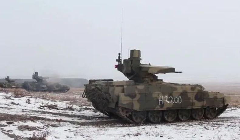 Video tank Terminator Rusia yang diklaim mampu tahan ledakan nuklir serta menembak jet tempur musuh. (Foto: Kemhan Rusia)