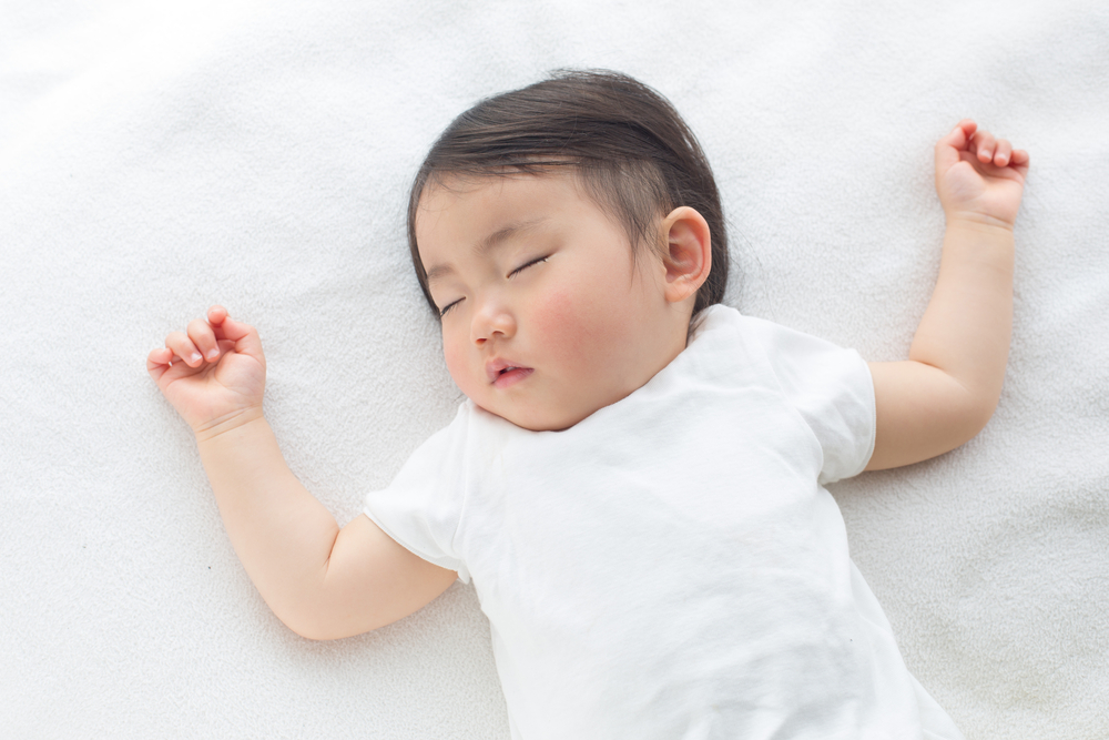 Bayi tidur lelap. Foto: Shutterstock