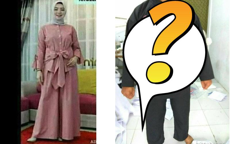Nasib apes, niat beli baju muslim malah dikasih baju mirip busana pencak silat (Foto : Istimewa)
