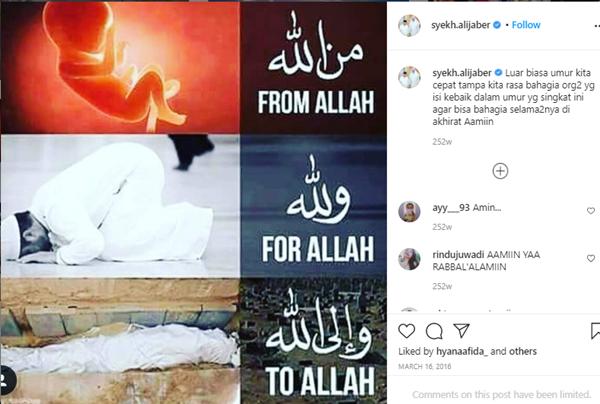 Syekh Ali Jaber Sering Bahas Kematian di Instagram, Firasat?