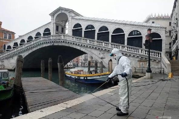 Italia menjadi negara terparah pandemi virus corona di Eropa. (Foto: AFP)