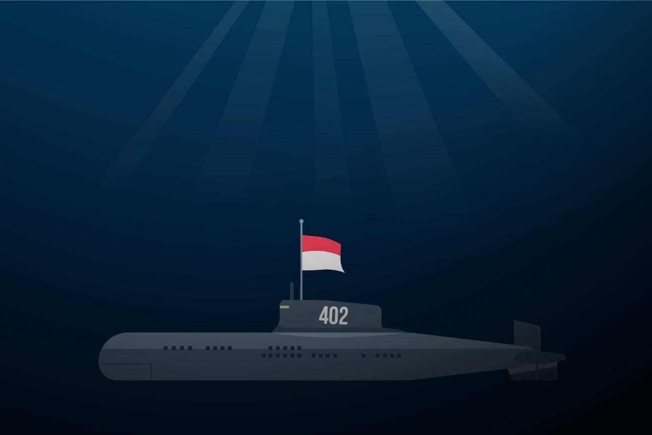 Ilustrasi KRI Nanggala-402. (Ilustrator: Rahayuning Putri Utami/JPNN.com/GenPI.co)