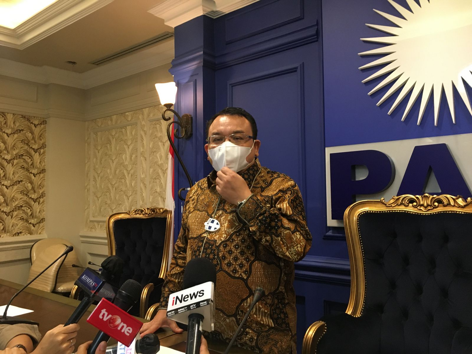 Saleh Dulay Komentari Politisi Gerindra yang Kritik Anies Baswedan. Foto : Mia Kamila/GenPI.co