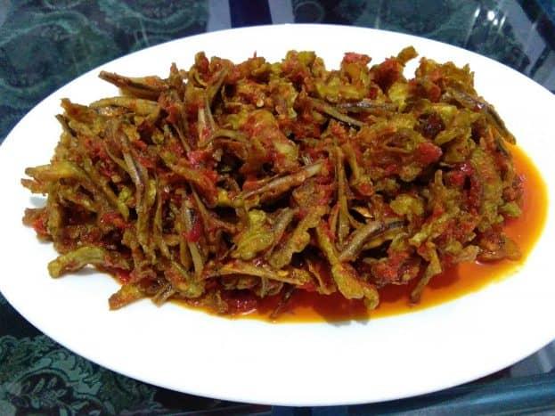 Pare balado ikan teri. Foto: Food by Rifka