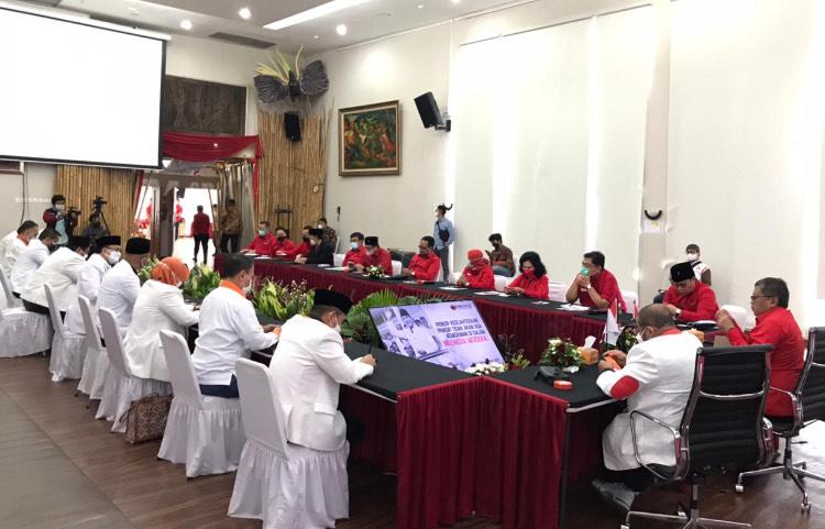 Pertemuan PKS dengan PDIP. Foto: PKS