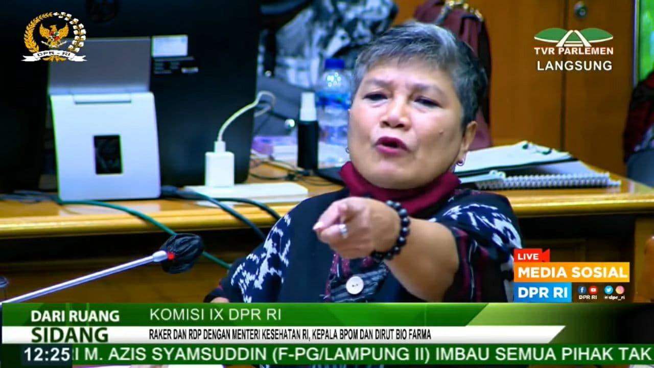 Anggota DPR Komisi IX fraksi PDIP, Ribka Tjiptaning. Foto : YouTube/DPR RI