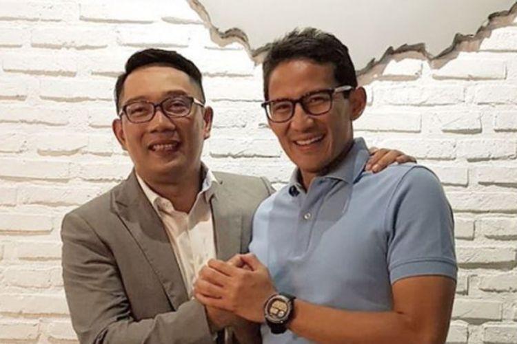Duet Sandiaga Uno dan Ridwan Kamil di Pilpres Jauh dari Harapan