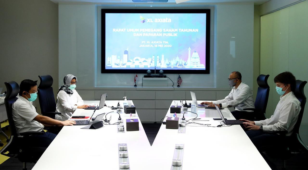 XL Axiata menyelenggarakan Rapat Umum Pemegang Saham (RUPS) Tahunan 2020. Foto: PR XL Axiata