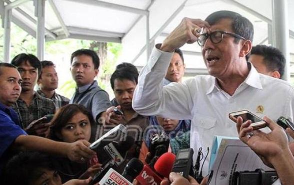 Mendadak Menteri Yasonna Laoly Singgung Ini: Presiden Tidak Happy (Foto: dok JPNN.com/GenPI.co)