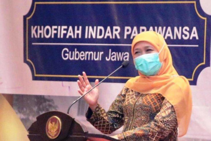 Gubernur Jawa Timur Khofifah Indar Parawansa. (ANTARA Jatim/Biro Adpim Jatim/FA)