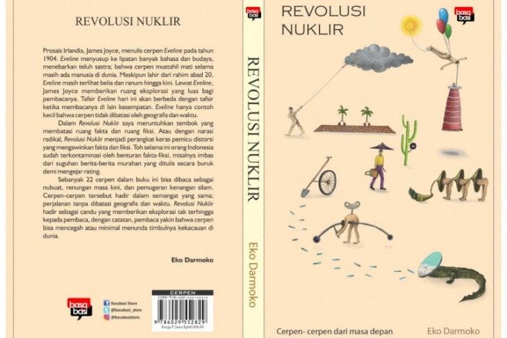 "Buku Kumpulan Cerpen ""Revolusi Nuklir"". (FOTO ANTARA/HO-Eko Darmoko/Am)"