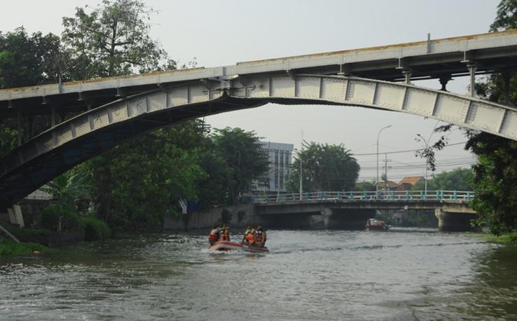 Susur Sungai Kalimas Untuk Pengembangan Wisata Air Di Kota Surabaya. Foto : Humas Pemkot Surabaya