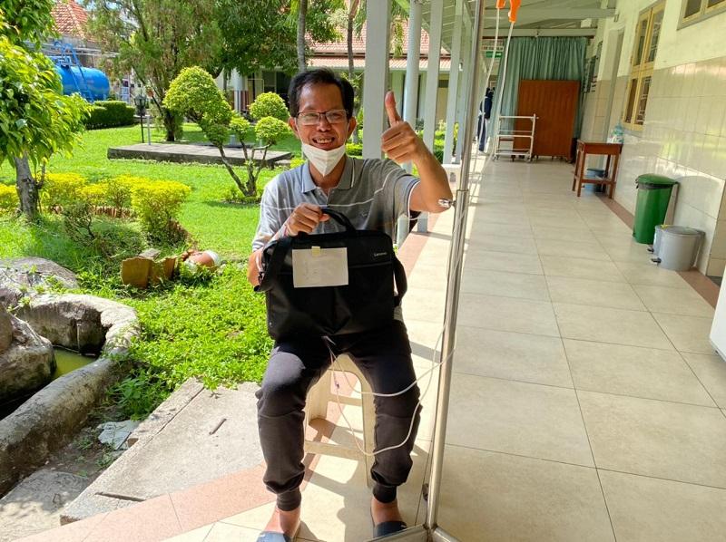 Ketua DPRD Kota Surabaya Adi Sutarwijono tengah menajalni perawatan di salah satu rumah sakit yang ada di Kota Surabaya. Foto : dokumen pribadi Adi Sutarwijono.