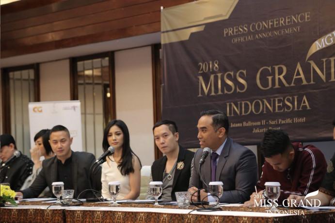 Press Conference Miss Grand Indonesia, Jumat (6/7)