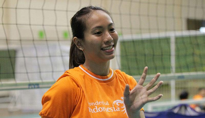Berlian Marsheilla, pemain libero dalam Timnas Volley Putri Indonesia.