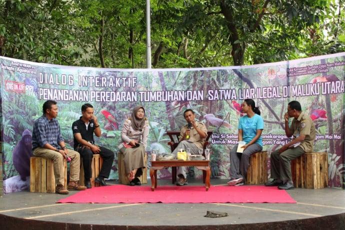 Dalog interaktif yang digelar Balai Konservasi Sumber Daya Alam Maluku Seksi Konservasi I Wilayah Ternate. Bertempat di Taman Nukila Kota Ternate, Sabtu (25/8).