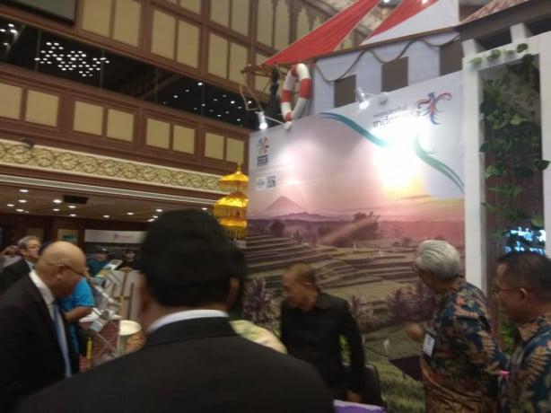 Booth Indonesia di Brunei Travel Fair 2018.