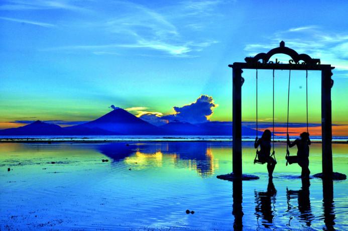 Gili Trawangan, salah satu destinasi wisata di Kabupaten Lombok Utara, NTB. (Foto: Google Image)