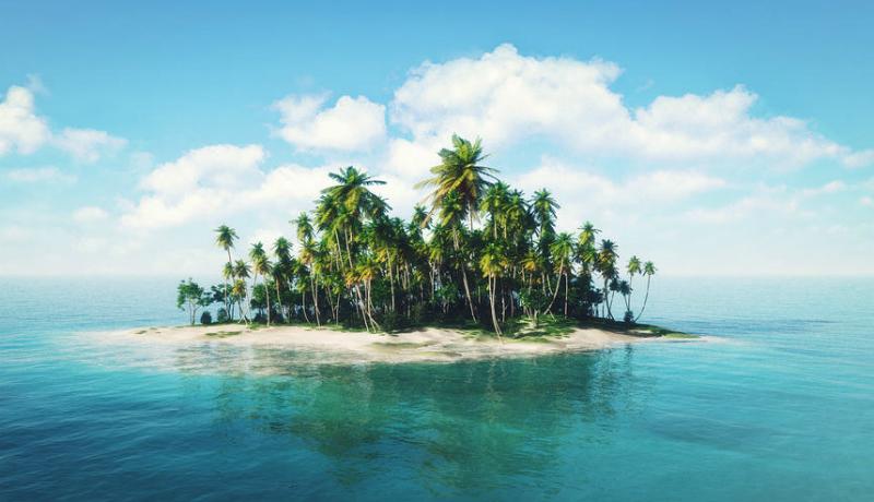 Ilustrasi pulau tak berpenghuni