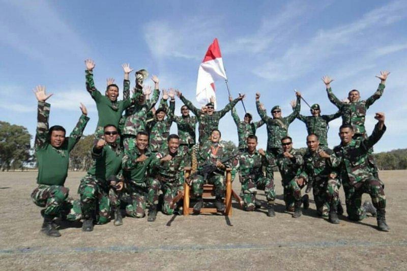 Kontingen TNI AD menjadi juara umum lomba menembak antarnegara di Australian Army Skill At Arms Meeting (AASAM) 2019. (Foto: Dispenad)