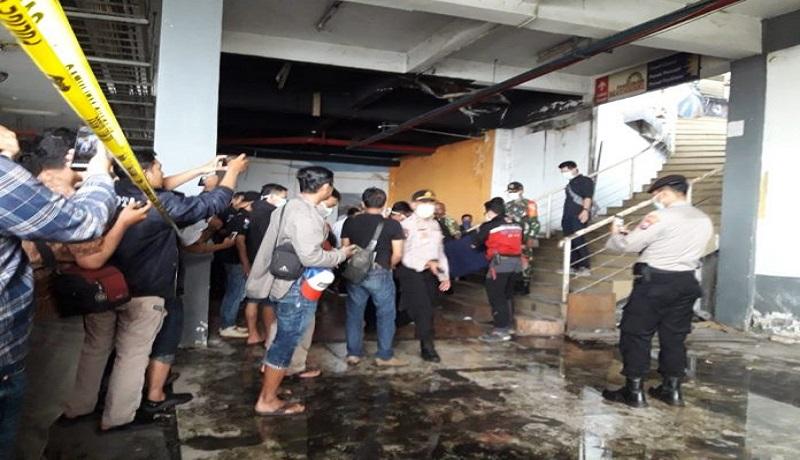 Tempat kejadian perkara kasus mutilasi di Pasar Besar Malang, Jawa Timur. (foto: Malang.id)