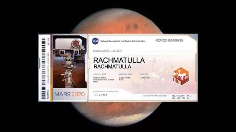 Program NASA InSight memberikan kesempatan pada masyarakat dunia mengirimkan nama mereka dan akan dibawa roket bersama robot penjelajah Planet Mars pada 2020